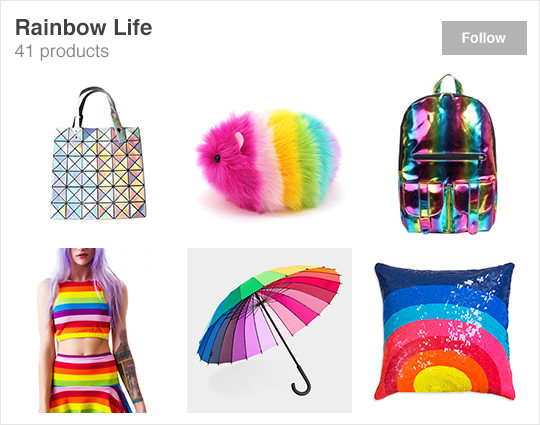 Wanelo featured collection rainbow