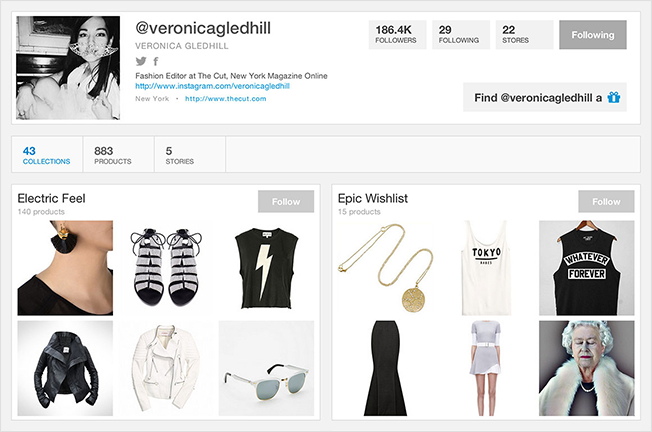 Wanelo featured veronica profile